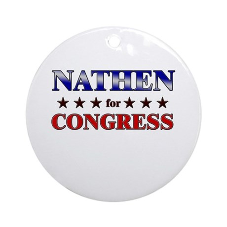 NATHEN for congress Ornament (Round)
