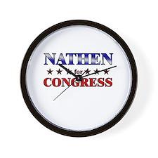 NATHEN for congress Wall Clock