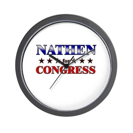 NATHEN for congress Wall Clock