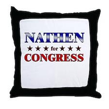 NATHEN for congress Throw Pillow