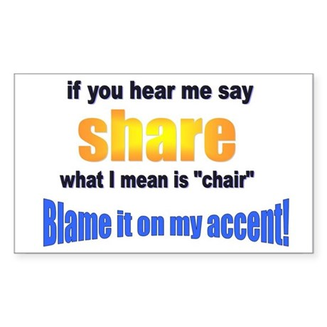 Share or Chair? Rectangle Sticker