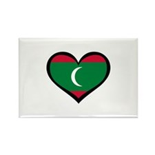 Maldives Love Rectangle Magnet