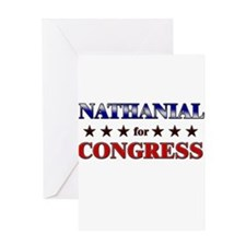NATHANIAL for congress Greeting Card