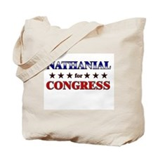 NATHANIAL for congress Tote Bag