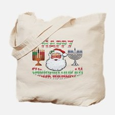 HAPPY CHRISKWANUKAH Tote Bag