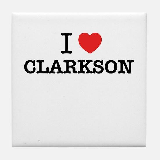I Love CLARKSON Tile Coaster