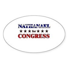 NATHANAEL for congress Oval Decal
