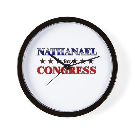 NATHANAEL for congress Wall Clock