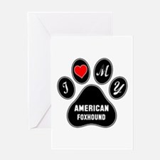 I love my American foxhound Dog Greeting Card
