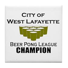 City of West Lafayette Beer P Tile Coaster