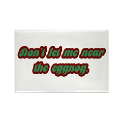 Funny Eggnog Rectangle Magnet