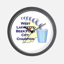 West Lafayette Beer Pong City Wall Clock
