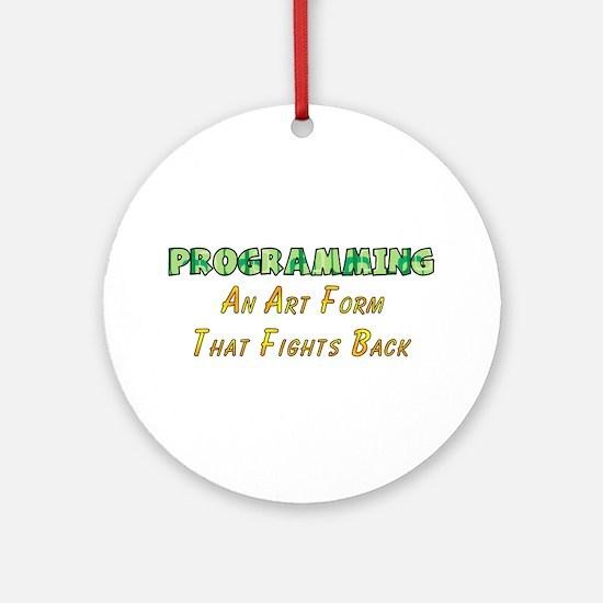 Programming Humor Ornament (Round)