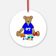 Teddy Bear Trucks Ornament (Round)