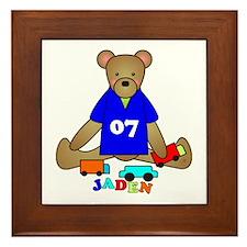 Teddy Bear Trucks Framed Tile
