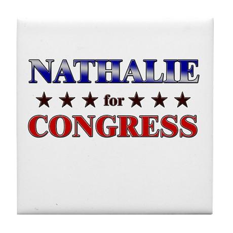 NATHALIE for congress Tile Coaster