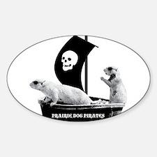 Prairie Dog Pirates Oval Decal