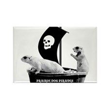 Prairie Dog Pirates Rectangle Magnet