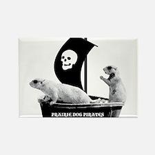 Prairie Dog Pirates Rectangle Magnet