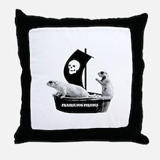 Prairie Dog Pirates Throw Pillow