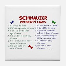 Schnauzer Property Laws 2 Tile Coaster