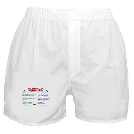 Schnauzer Property Laws 2 Boxer Shorts