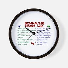 Schnauzer Property Laws 2 Wall Clock