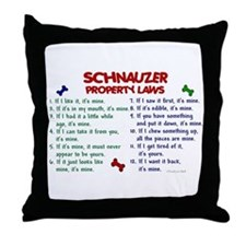 Schnauzer Property Laws 2 Throw Pillow