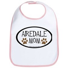 Airedale Mom Oval Bib