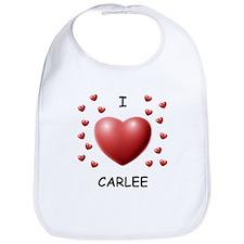 I Love Carlee - Bib