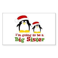 penguin big sister Rectangle Decal