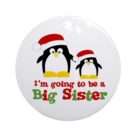 penguin big sister Ornament (Round)