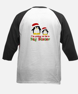 penguin big sister Kids Baseball Jersey