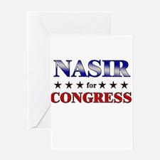 NASIR for congress Greeting Card