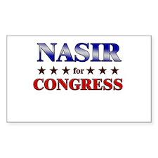 NASIR for congress Rectangle Decal