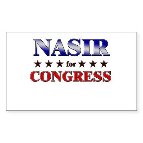 NASIR for congress Rectangle Sticker