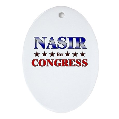 NASIR for congress Oval Ornament
