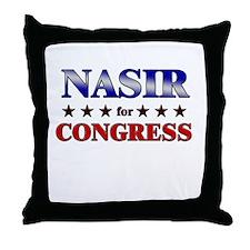 NASIR for congress Throw Pillow