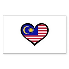 Malaysia Love Rectangle Decal