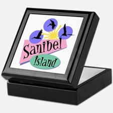 Sanibel Retro Pelicans - Keepsake Box