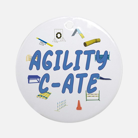 C-ATE Agility Title Ornament (Round)
