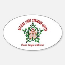 Christmas Light Stringer Upper Oval Decal