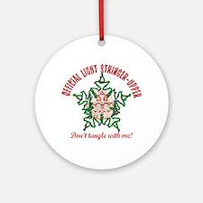 Christmas Light Stringer Upper Ornament (Round)