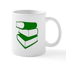 Stack Of Green Books Mug