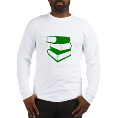 Stack Of Green Books Long Sleeve T-Shirt