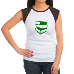 Stack Of Green Books Women's Cap Sleeve T-Shirt