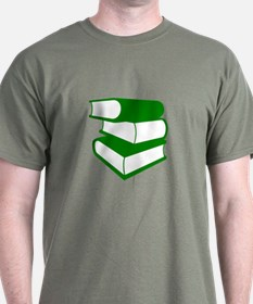 Stack Of Green Books T-Shirt