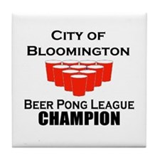 City of Bloomington Beer Pong Tile Coaster