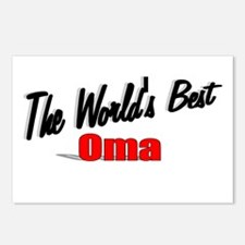 """""""The World's Best Oma"""" Postcards (Package of 8)"""