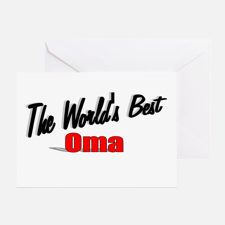 """""""The World's Best Oma"""" Greeting Card"""